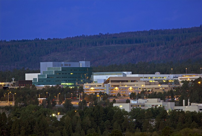 Los Alamos National Laboratory sits on top of a once-remote mesa in northern New