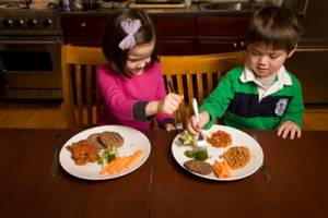 The study found that children are tempted by plates with seven different items a