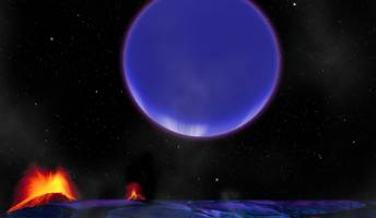 This image suggests how the newly discovered gaseous planet would look like from