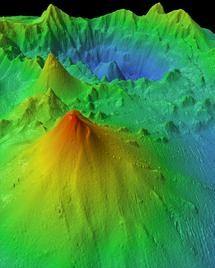 Sonar was used to map the Monowai volcano, near Tonga