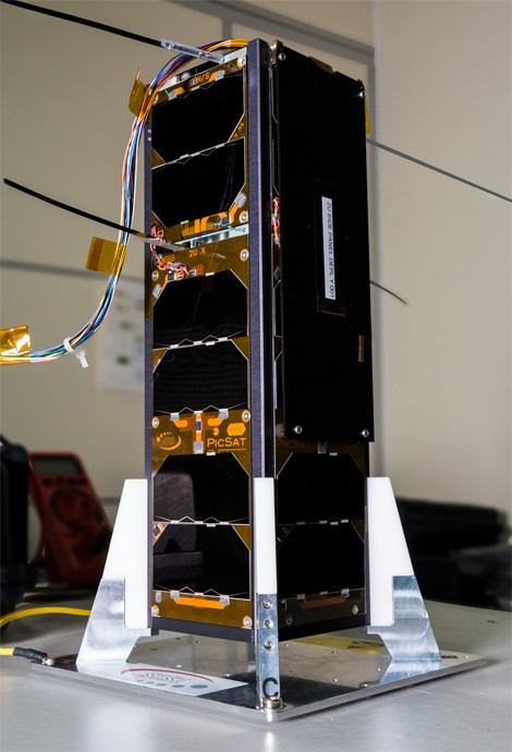 © LESIA / Observatoire de Paris-PSL  PicSat, with its unfolded antennas, in the