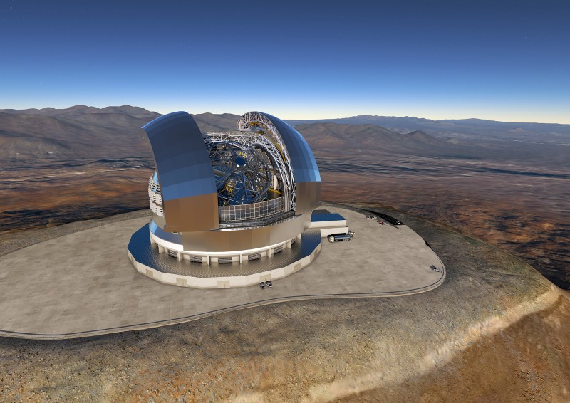 In Chile, the European Southern Observatory ESO is building the Extremely Large