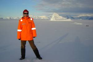 Dr Kate Hendry on a previous exhibition to Antarctica