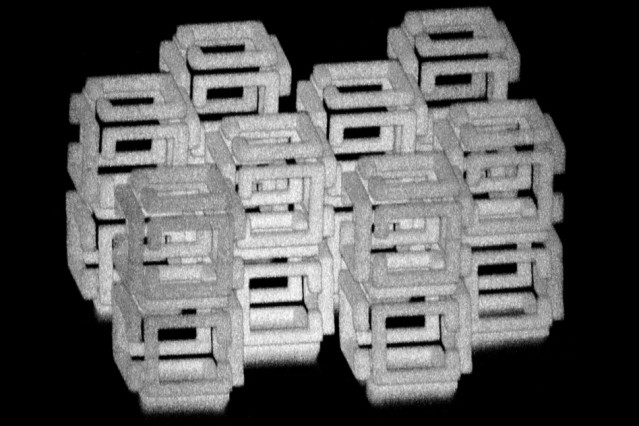 MIT engineers have devised a way to create 3-D nanoscale objects by patterning a