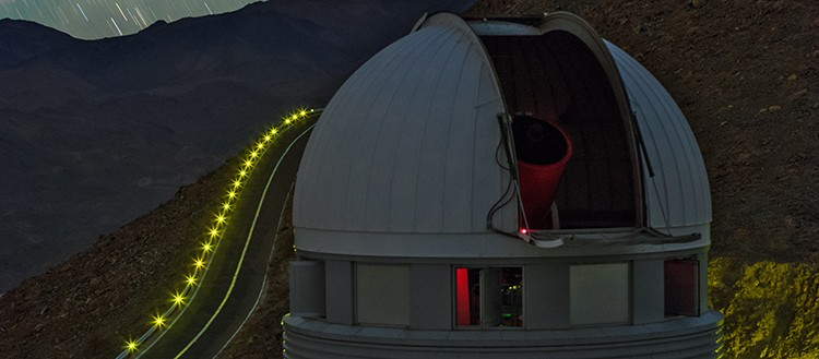 The EULER telescope, installed at the Silla Observatory in Chile. © ESO/B. Tafre