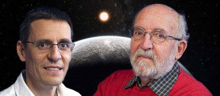 Didier Queloz and Michel Mayor, Nobel Prize winner in Physics 2019 © UNIGE