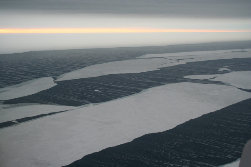 A rapidly warming Arctic has caused leads-long, wide breaks in the Arctic ice-to