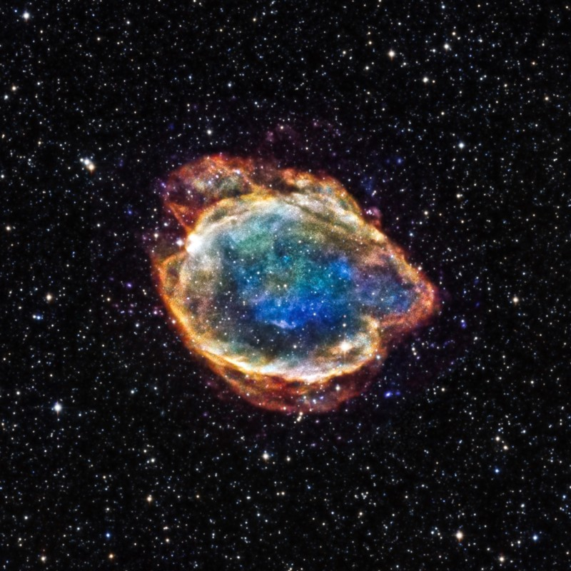 An X-ray/infrared composite image of G299, a Type Ia supernova remnant in the Mi