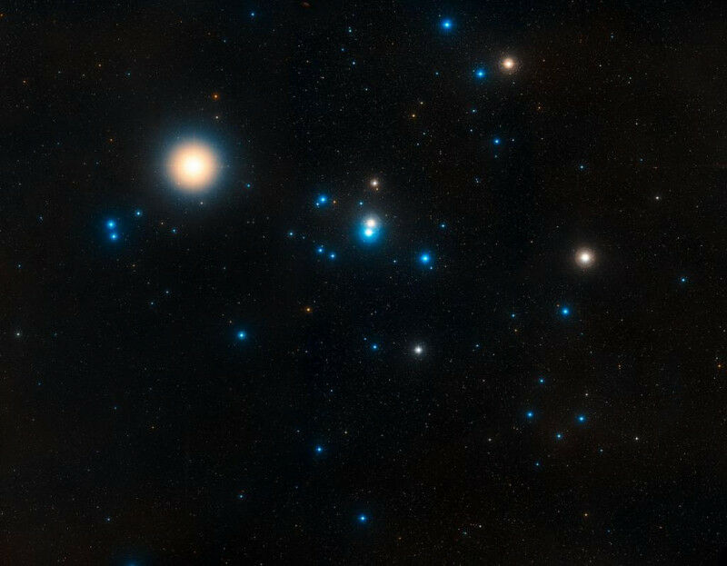 Image of the Hyades, the star cluster closest to the Sun. Source: NASA, ESA, and