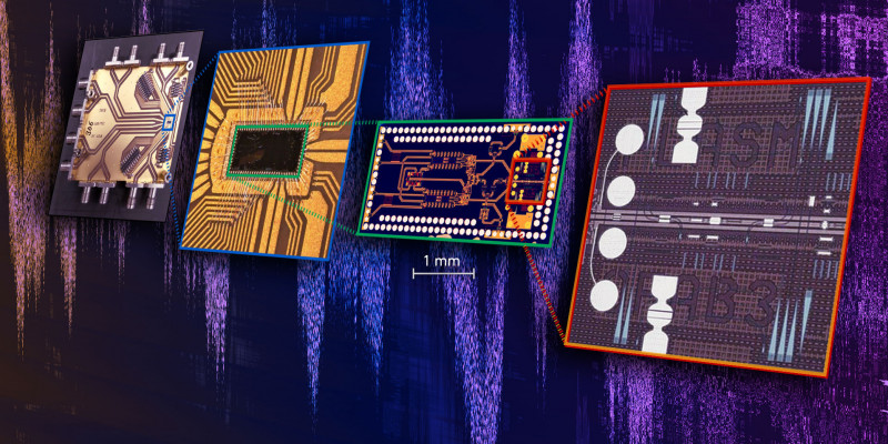 The new, highly compact chip brings together the fastest electronic and light-ba