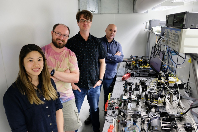 Research team: (left to right) Alison Wong, Christopher Betters, Barnaby Norris,