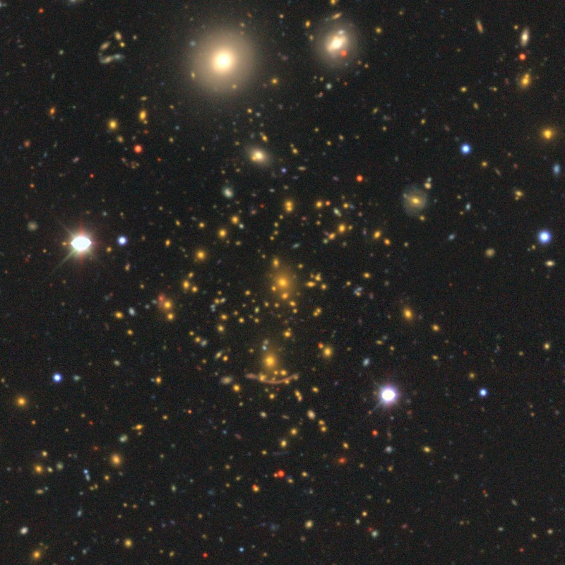 A multicolor mosaic image of the massive galaxy cluster, Abell 370, located in t