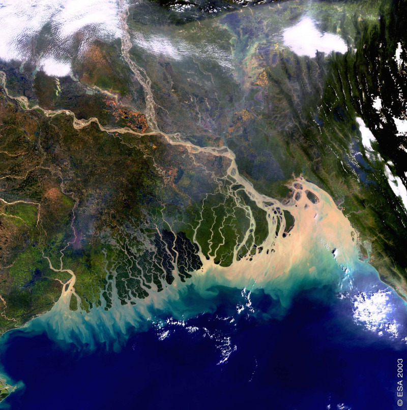 The Ganges-Brahmaputra-Meghna delta as seen from the European Space Agency (ESA)