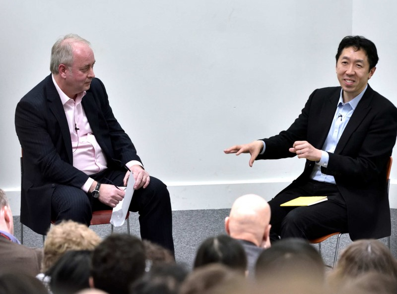 Jennings and Dr Ng in conversation