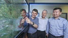 Dr Matthew Stocks, Andrew Blakers and Bin Lu (left to right). Image credits: ANU