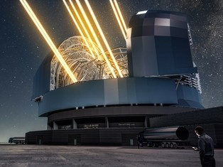 Artist's impression of the Extremely Large Telescope. Credit ESO and L Cal