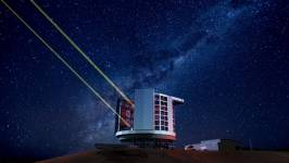 An artist's impression of the Giant Magellan Telescope. Produced by Mason M