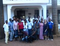 Newly trained lay counselors pose with their instructors. Tanzania Women Researc