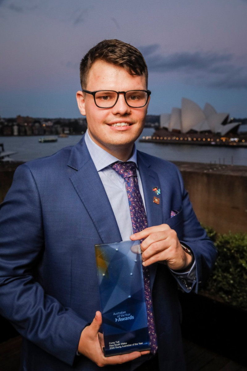 Corey Tutt, NSW Young Australian of the Year. Photo credit: Salty Dingo