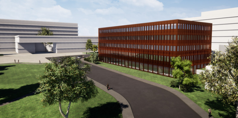 Visualisation of the Partnerhaus II building on the new healthcare campus of Kan