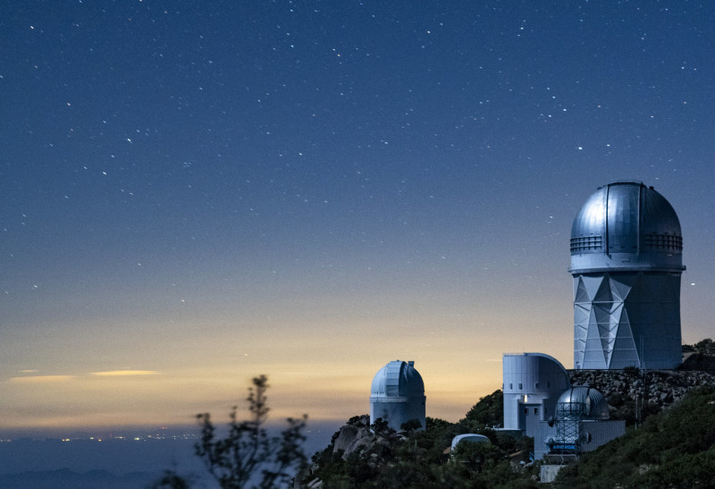 Kitt Peak National Observatory at dusk. DESI, the Dark Energy Spectroscopic Inst