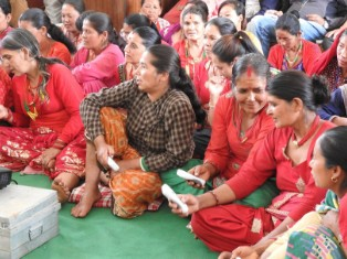 Women in Kathmandu Valley take part in education and training