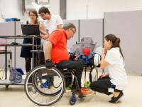 The ETH-Team VariLeg is preparing for the Cybathlon. (Photograph: ETH Z�rich /
