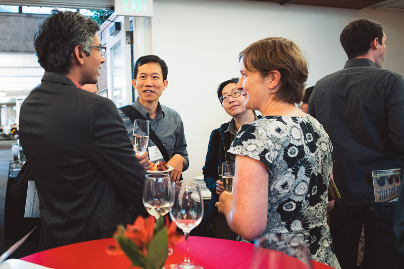 Faculty and staff gathered last June at an event to celebrate s who had recently