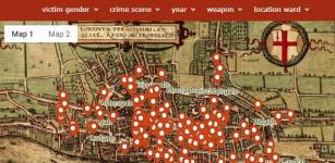 A screenshot of the 'murder map' Credit: Violence Research Centre