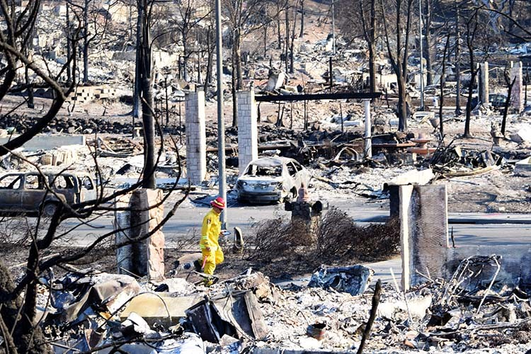 The 2017 Tubbs Fire in Santa Rosa killed 22 people and destroyed 5,643 structure