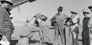 Walter Mittelholzer taking photographs on an airfield in Addis Ababa, 1933/34 (
