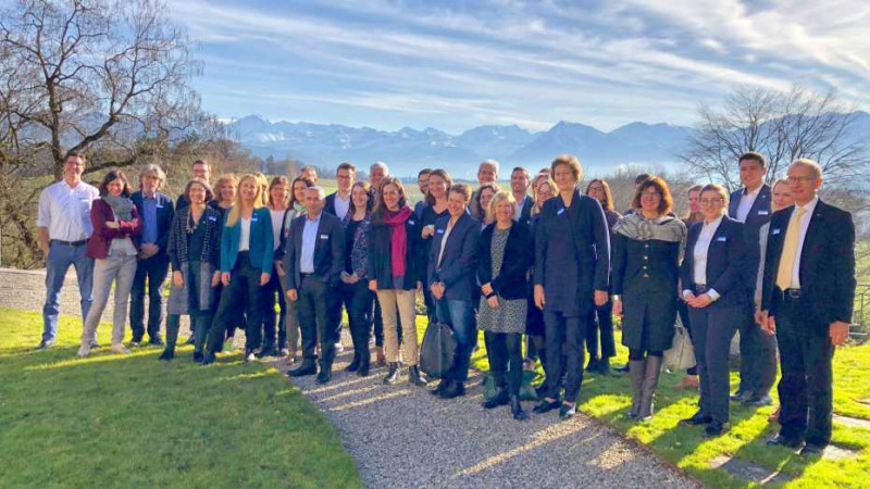 Set against an alpine backdrop: newly elected parliamentarians attending the ETH