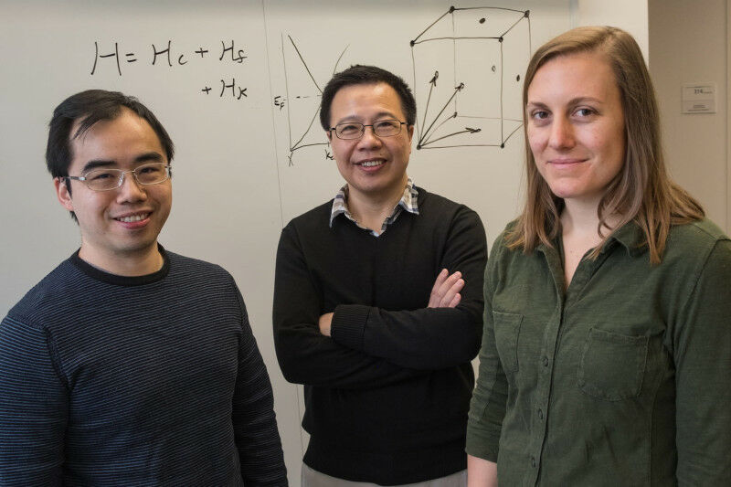Rice University theoretical physicists (from left) Hsin-Hua Lai, Qimiao Si and S