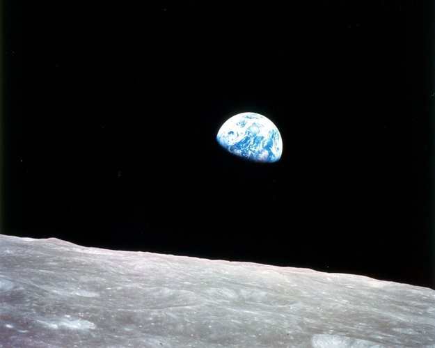 Earthrise image captured by NASA astronaut William Anders