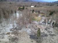 An aerial view of the Oso region the day of the March 22, 2014, landslide captur