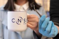 Marc Roseboro/CNSI Adding caffeine to perovskite solar cells could help make the