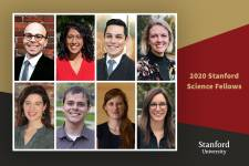 The 2020 Stanford Science Fellows, from top left to bottom right: Caleb Lareau,