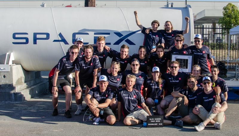 The Swiss student team finishes the Hyperloop Pod competition in second place! (