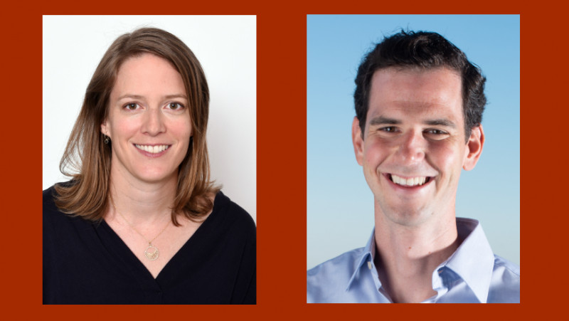 The two Empa researchers Marianne Liebi and Bruno Schuler have been awarded an E