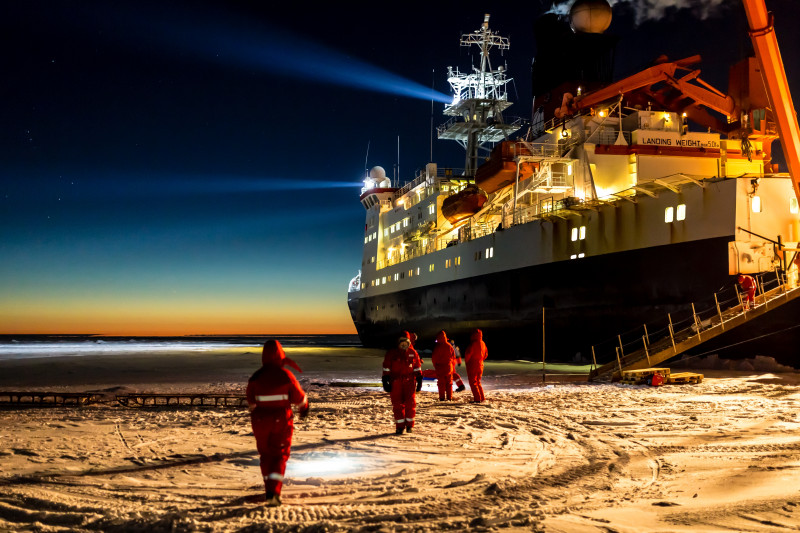 The Polarstern in Antarctica in 2013, on a previous expedition. The ship becomes