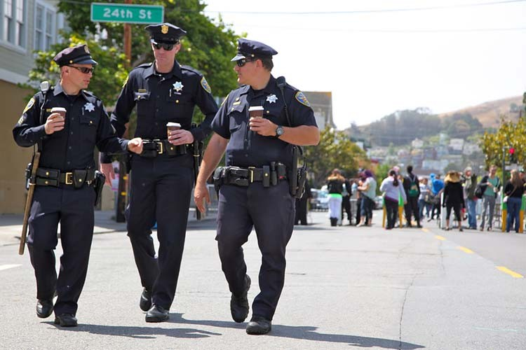 Assigning police officers in San Francisco to foot patrols helped drop certain k