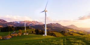 Wind farm in the prealps of Switzerland: If wind power is only planned accordin