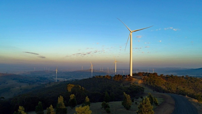 The University welcomes a new wind farm in regional Victoria that has started su