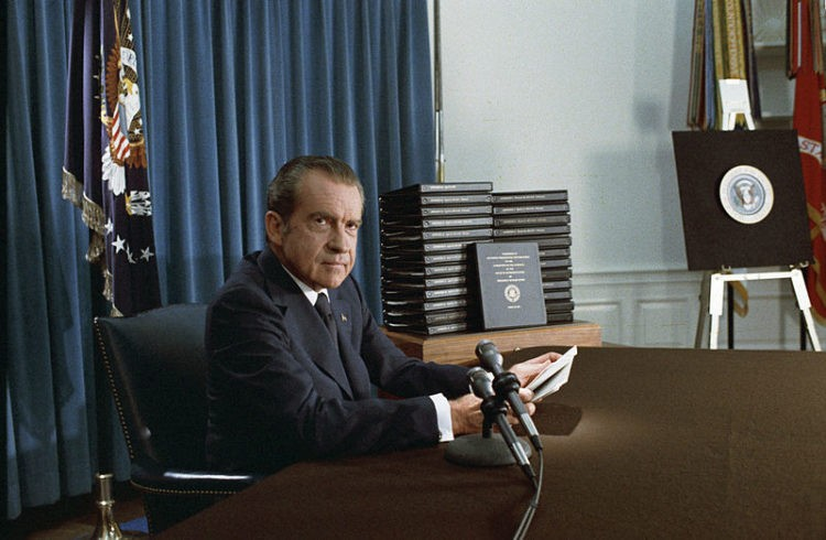 Richard Nixon had Watergate in much the same way that Donald Trump has the Russi
