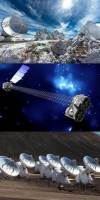 A collage of observatories used in the Caltech studies of Cow: ALMA, NuSTAR, and