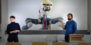 Lisa Schurrer and Naveen Shamsudhin are part of the robotics and philosophy pro