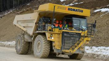 Until last year, the Komatsu dumper truck chugged around the cement works quarry