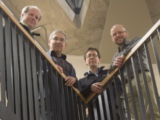 Highly cited researchers: (L-R)  s Tom Theuns, Carlos Frenk, Adrian Jenkins and