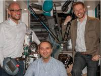 Cevotec founders Felix Michl, Neven Majic, and Thorsten Gr�ne with the prototype