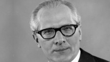 Erich Honecker, leader of the German Democratic Republic from 1971 until 1989. T